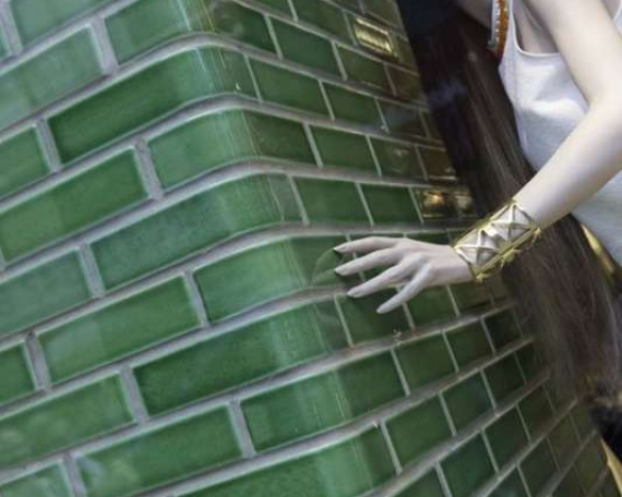 Glazed bricks for River Island shop at Manila SM Aura Premier (Philippines)
